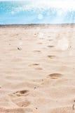 Huellas en la arena Imágenes de archivo libres de regalías