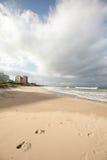 Huellas en una playa Imagen de archivo