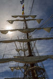 HUELVA, ΙΣΠΑΝΙΑ, στις 15 Απριλίου 2017 λιμένας Huelva Το μεξικάνικο sailb στοκ φωτογραφίες με δικαίωμα ελεύθερης χρήσης