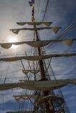 HUELVA SPANIEN, APRIL 15th port 2017 av Huelva Den mexikanska sailben Royaltyfria Foton