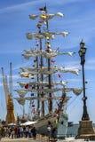 HUELVA SPANIEN, APRIL 15th port 2017 av Huelva Den mexikanska sailben Royaltyfri Foto