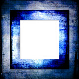 Hues of blues grunge frame Royalty Free Stock Image