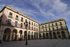 Huesca (Αραγονία), ιστορικό τετράγωνο στοκ εικόνες με δικαίωμα ελεύθερης χρήσης