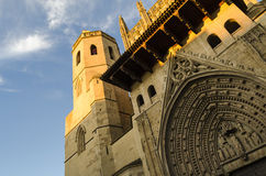 Huesca cathedral Royalty Free Stock Photo