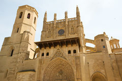 Huesca Cathedral - Huesca - Spain Stock Images