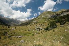 Huesca landscapes. Landscapes Huesca in Aragon Pyrenees, Spain Stock Photos