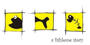 Hueso de pescados Fotografía de archivo libre de regalías