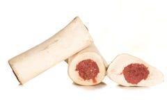 Huesos de perro crudos Foto de archivo libre de regalías