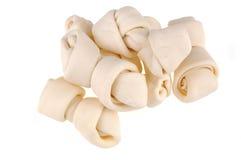 Huesos de perro del cuero crudo Imagenes de archivo