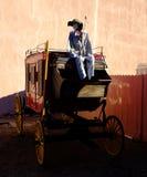 Huesos de Western Cowboy Skeleton del coche de la etapa Foto de archivo