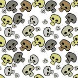 Huesos del cráneo en modelo inconsútil Ilustración del vector Foto de archivo