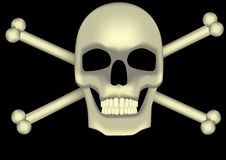 Huesos del cráneo y de la cruz Imagen de archivo