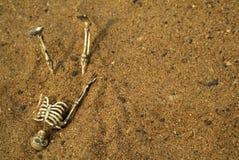 Huesos del esqueleto de Víspera de Todos los Santos Foto de archivo libre de regalías