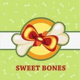 Huesos dulces, gran regalo para un animal doméstico Foto de archivo