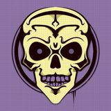 Huesos púrpuras de la cabeza de la sonrisa Fotografía de archivo