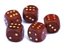 Huesos que juegan de madera Imágenes de archivo libres de regalías