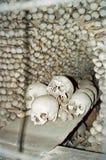 Huesos y cráneos, República Checa de Kutna Hora Fotos de archivo libres de regalías