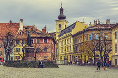 Huet Square, Sibiu, Romania Royalty Free Stock Images