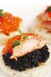 Huevas de color salmón Foto de archivo libre de regalías