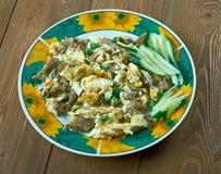 Huevo жулика Machacado Стоковые Изображения