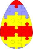 Huevo 03 del rompecabezas del día de fiesta Imagen de archivo