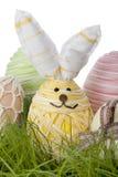 Huevo adorable del conejito de pascua Imagen de archivo libre de regalías