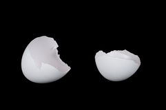 Huevo agrietado blanco Imagenes de archivo
