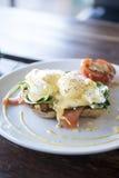 Huevo Benedicto con los salmones del humo Foto de archivo libre de regalías