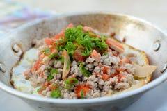 huevo Cacerola-frito Fotos de archivo