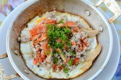 huevo Cacerola-frito Imagen de archivo libre de regalías