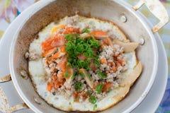 huevo Cacerola-frito Foto de archivo libre de regalías