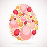 Huevo colorido del mosaico lindo de Pascua Fotografía de archivo