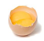 Huevo con dos yemas de huevo Imagen de archivo libre de regalías