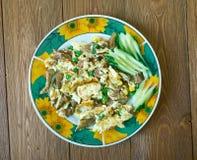 Huevo d'escroquerie de Machacado Photo stock