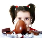 Huevo de chocolate Fotografía de archivo