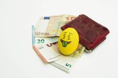 Huevo de Emoji Pascua con la expresión facial Fotografía de archivo libre de regalías