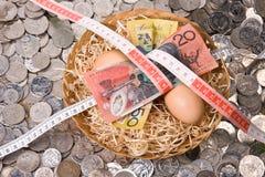 Huevo de jerarquía financiero - ajuste del presupuesto fotos de archivo libres de regalías