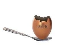 Huevo de jerarquía vacío 401k Imagen de archivo