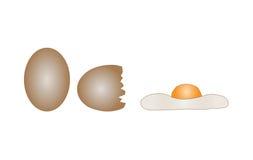 Huevo de la gallina Imagenes de archivo