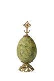 Huevo de la malaquita de la joya Fotos de archivo