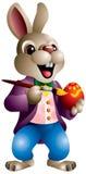 Huevo de la pintura del conejo de Pascua ilustración del vector