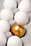Huevo de oro Fotografía de archivo