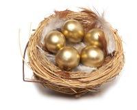 Huevo de oro imagen de archivo