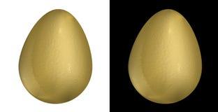 Huevo de oro stock de ilustración