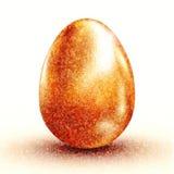 huevo de oro 3d Fotografía de archivo