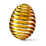 huevo de oro 3d Cáscara de huevo modular espaciada Día feliz de Pascua T del este Fotografía de archivo