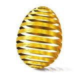 huevo de oro 3d con textura Cáscara de huevo modular espaciada Easte feliz Fotografía de archivo