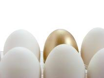 Huevo de oro en blanco Stock de ilustración