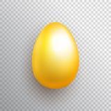 Huevo de oro en fondo transparente Foto de archivo