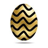 Huevo de oro de Pascua del vector aislado en el fondo blanco Huevo colorido con Dots Pattern Estilo realista Ilustraci?n del vect ilustración del vector